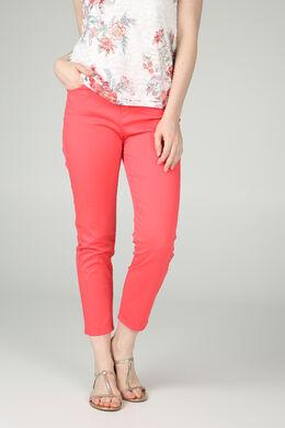 Pantalon 7/8 en coton, Corail