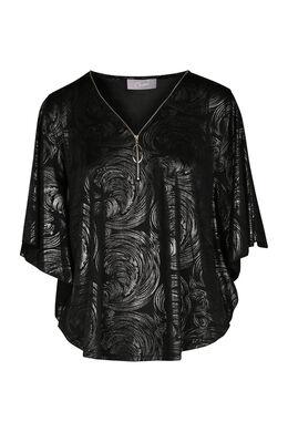 T-shirt manches en cape, Or