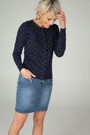 Jupe en jeans brodée, Denim