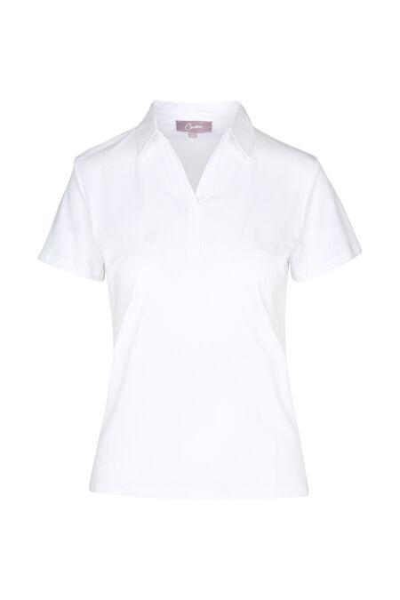 T-shirt polo - Blanc