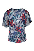 T-shirt imprimé fantaise, aqua