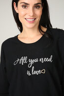 Trui 'All you need is love', Zwart