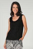 T-shirt met borduurwerk, Zwart