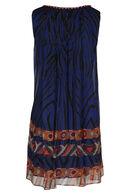 Robe fluide imprimé ethnique By Derhy, Bleu