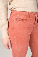 Pantalon slim velours, Rouille