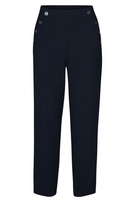 Pantalon large détails boutons - Marine
