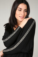 Pull bandes strass, Noir