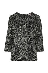 T-shirtsweater met luipaardprint