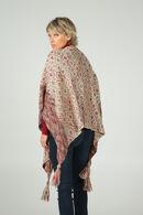 Poncho en tricot, Bordeaux