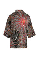 Kimonojasje met pluimenprint, Multicolor