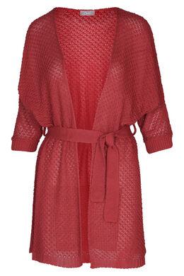 Cardigan in kimonostijl, Framboos