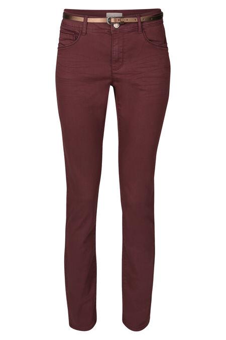 Pantalon slim en coton - Bordeaux