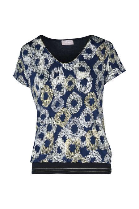 T-shirt bedrukt met cirkels - Marineblauw