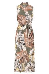 Lange jurk bedrukt met grote bloemen
