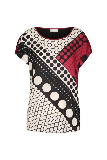 T-shirt imprimé géométrique - Framboise