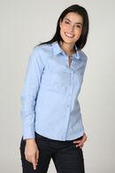 Klassieke blouse in katoen, Turquoise