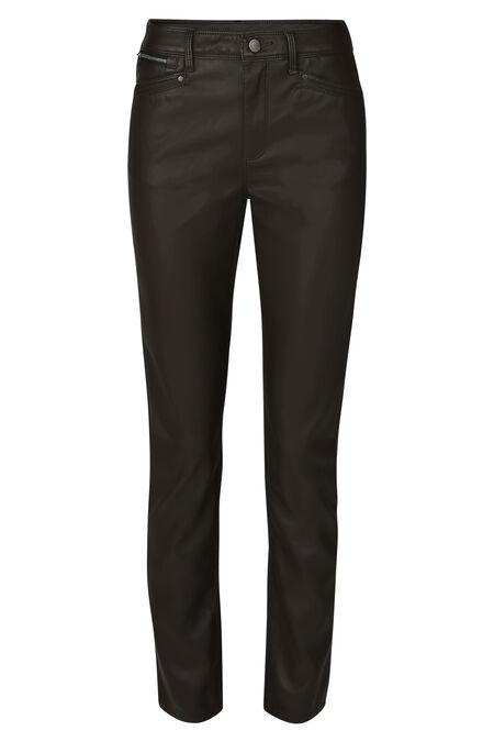 Pantalon simili-cuir - Chocolat