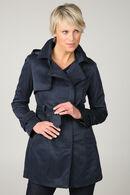 Trench coat zippé, Marine