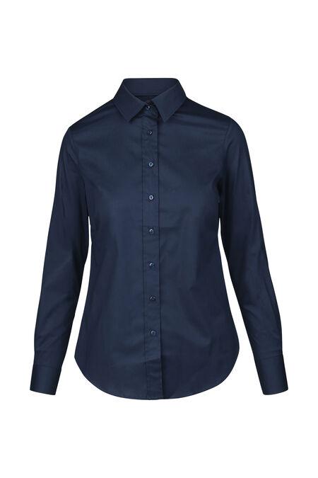 Klassieke blouse in katoen - Marineblauw