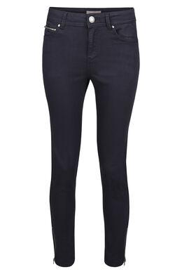 Smalle broek met rits onderaan, Marineblauw
