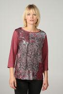 T-shirt imprimé léopard, Vieux rose