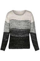 Pull rayures avec lurex, Sable