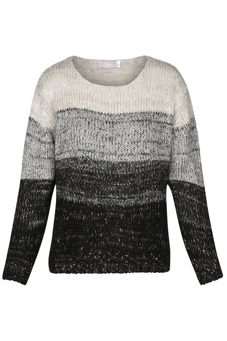 Pull rayures avec lurex - Sable