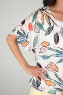 Bloes met bladprint, Multicolor