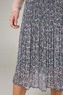 Lange plissérok met grafische print, Blauw