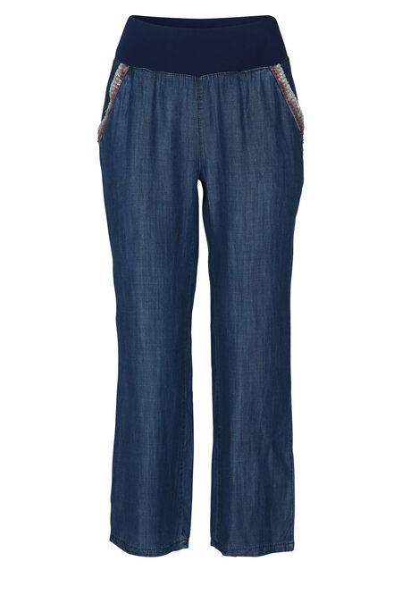 Pantalon fluide inspiration jeans - Denim