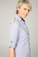 Hemd met strepen en stippen, Marineblauw