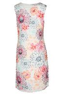 Jurk met volants en een bloemenprint, Roze