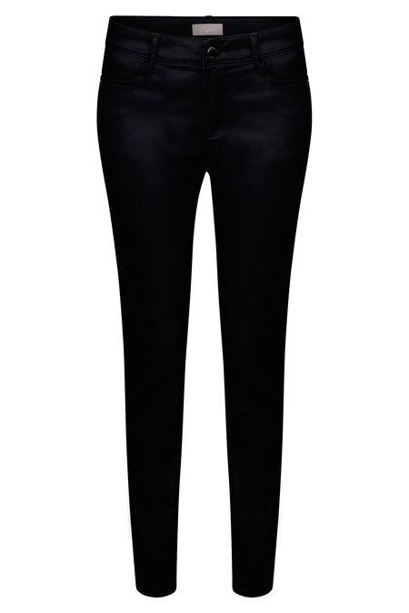 Pantalon slim enduit - Noir