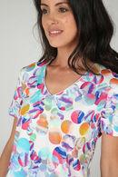 T-shirt imprimé pastilles multicolores, multicolor
