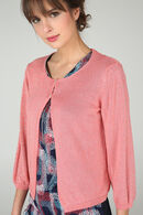 Cardigan manches 3/4 2 boutons, Corail
