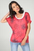T-shirt Sweat 2 en 1, Fushia