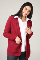 Cardigan loose maille lurex, Rouge