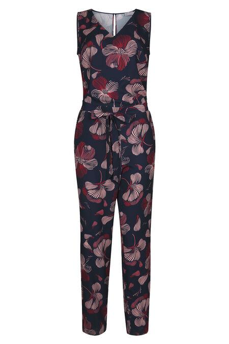 Jumpsuit met bloemenprint - Marineblauw