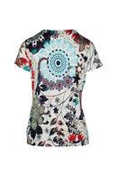 T-shirt maille froide bas élastiqué, Turquoise