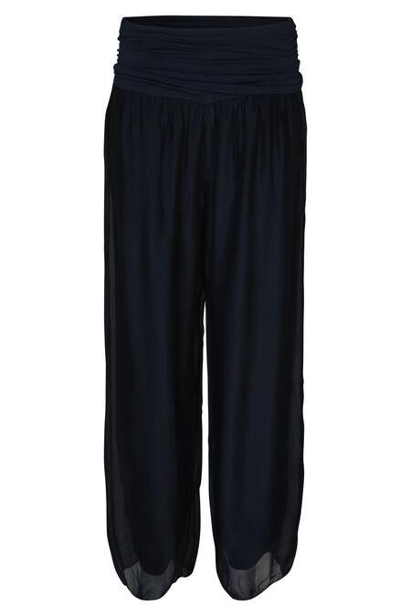 Brede broek - Marineblauw