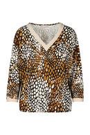 T-shirt met luidpaardprint, Cognac