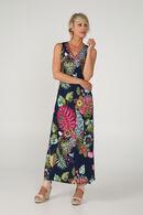 Robe longue imprimé exotique, multicolor
