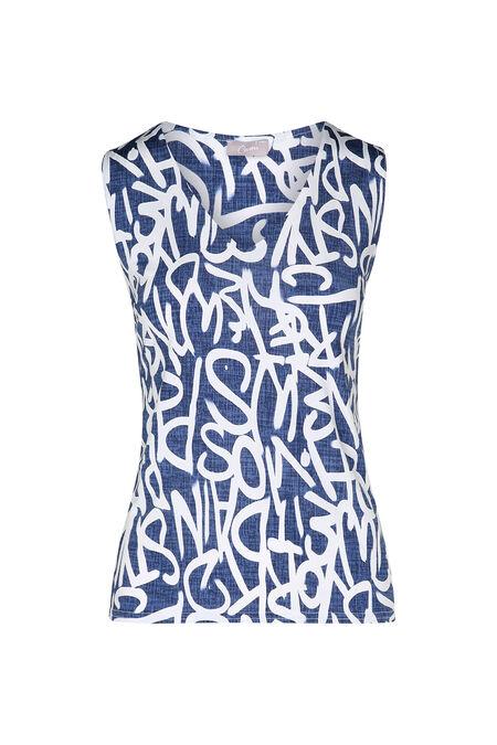 T-shirt imprimé lettres - Bleu