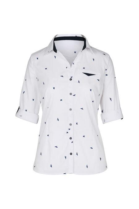 Hemd met vogelprint - Wit