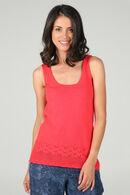 Mouwloze trui in dun tricot, Rood