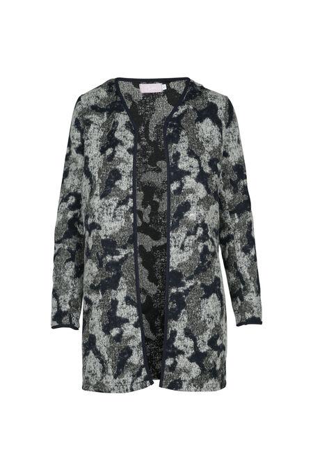 Mantel met camouflageprint - Marineblauw