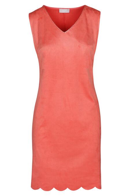 Robe sans manches en suédine - Abricot