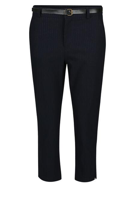 Gestreepte, geklede broek - Marineblauw