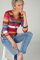 T-shirt coloré avec écriture, multicolor