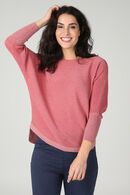 Pull maille lurex manches chauve-souris, Rose